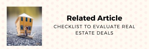 Checklist to evaluate Real Estate deals